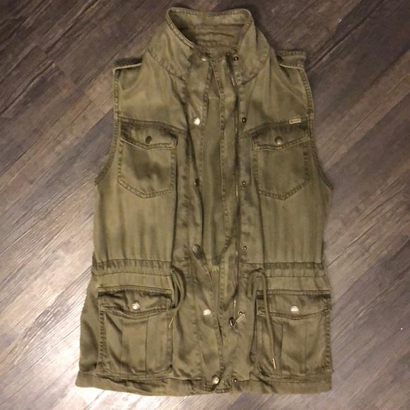 Max Jeans Jackets & Blazers - Army Green Utility Vest